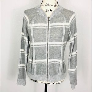 89th & Madison Knit Full Zip Top